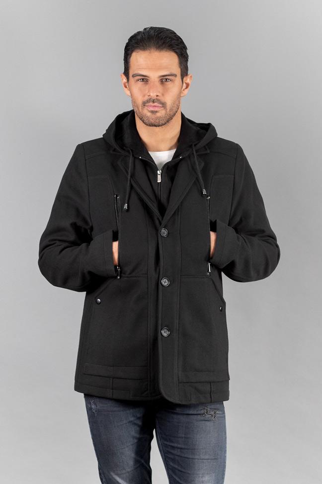 Muški kaput - 296 - Crna