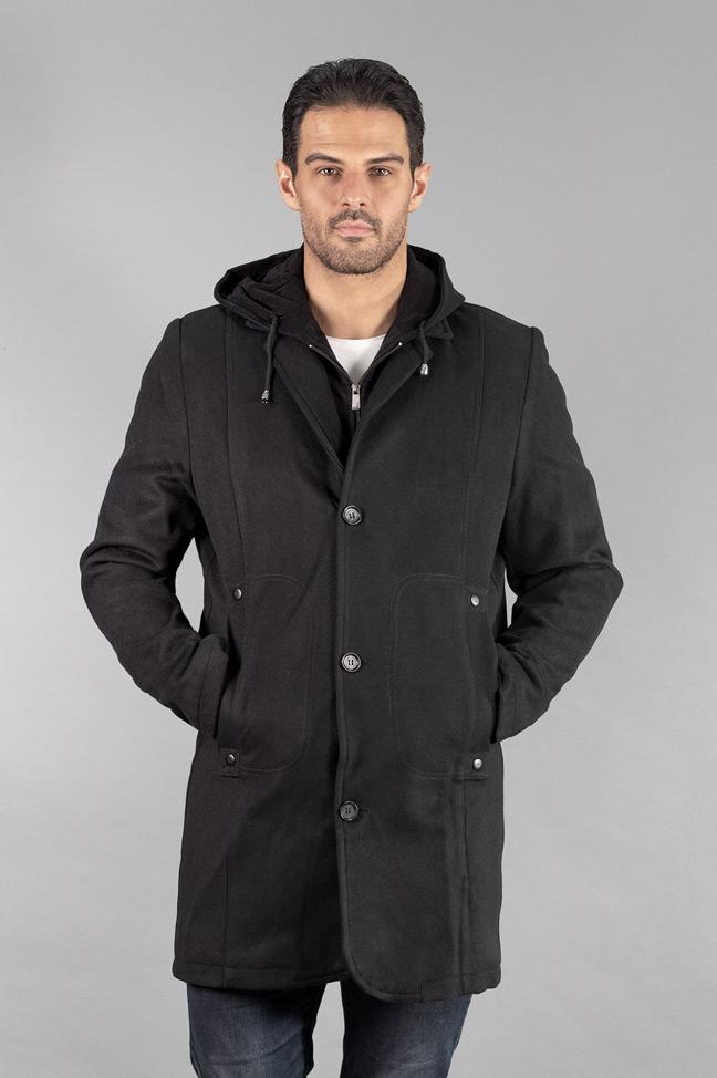 Muški kaput - 304 - Crna
