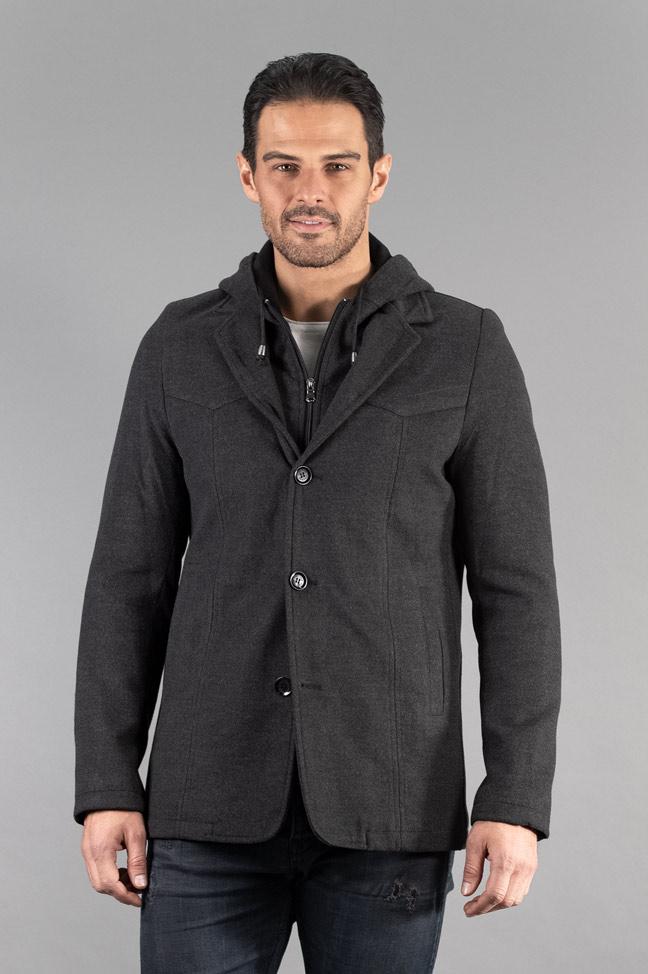 Muški kaput - 327 - Tamno siva