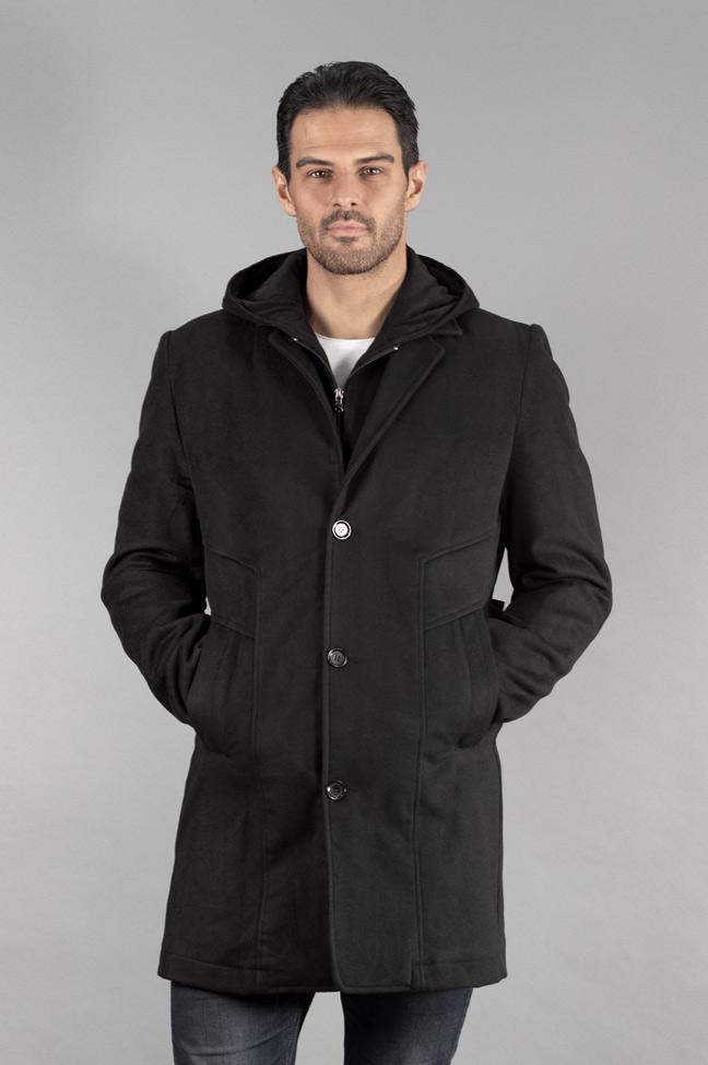 Muški kaput - 334 - Crna