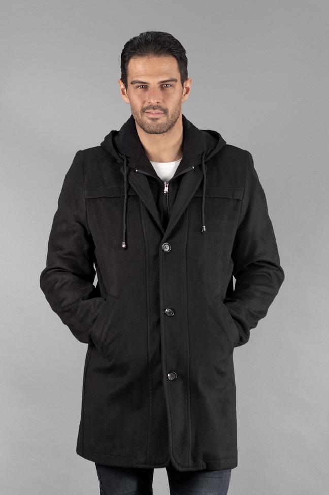 Muški kaput - 335 - Crna