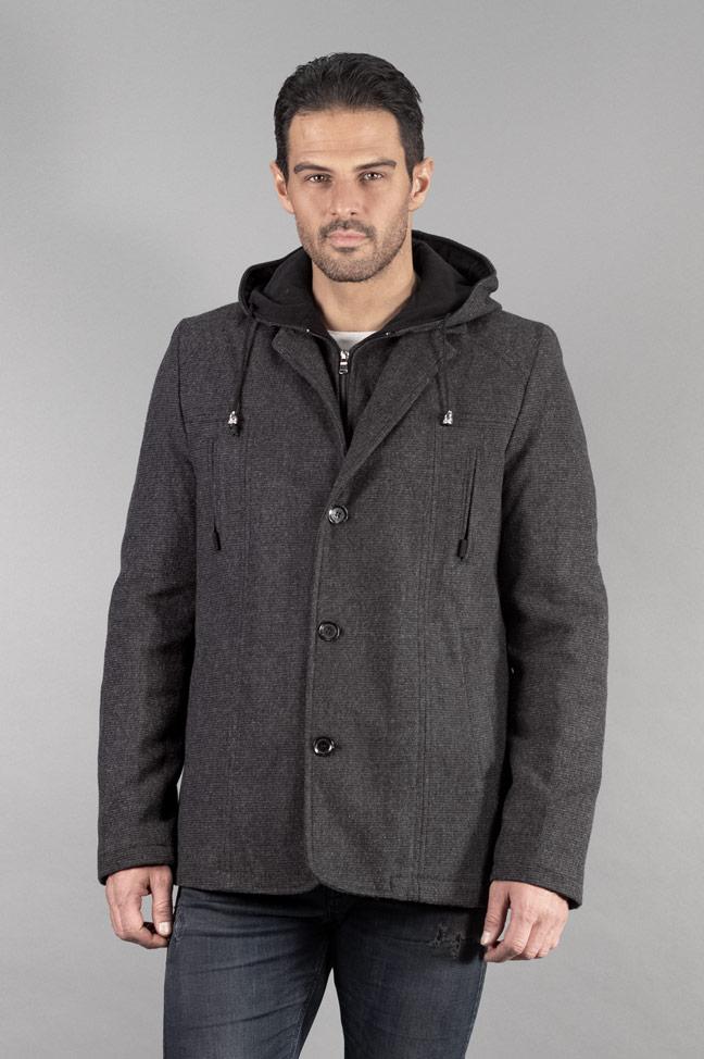 Muški kaput - 336 - Tamno siva