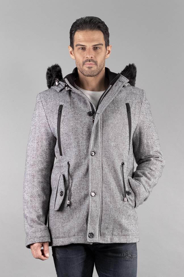 Muški kaput - 338 - Svetlo siva