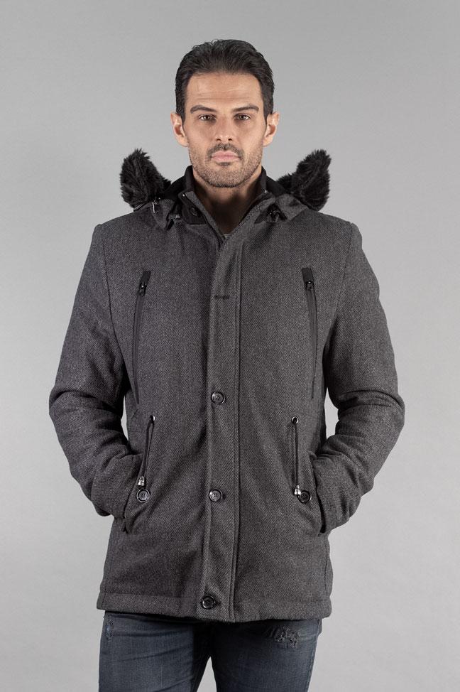 Muški kaput - 338 - Tamno siva