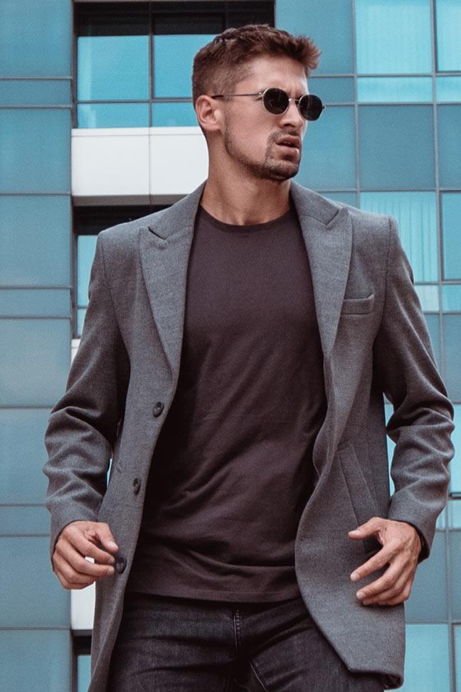 Muški kaput – 31183 – Siva