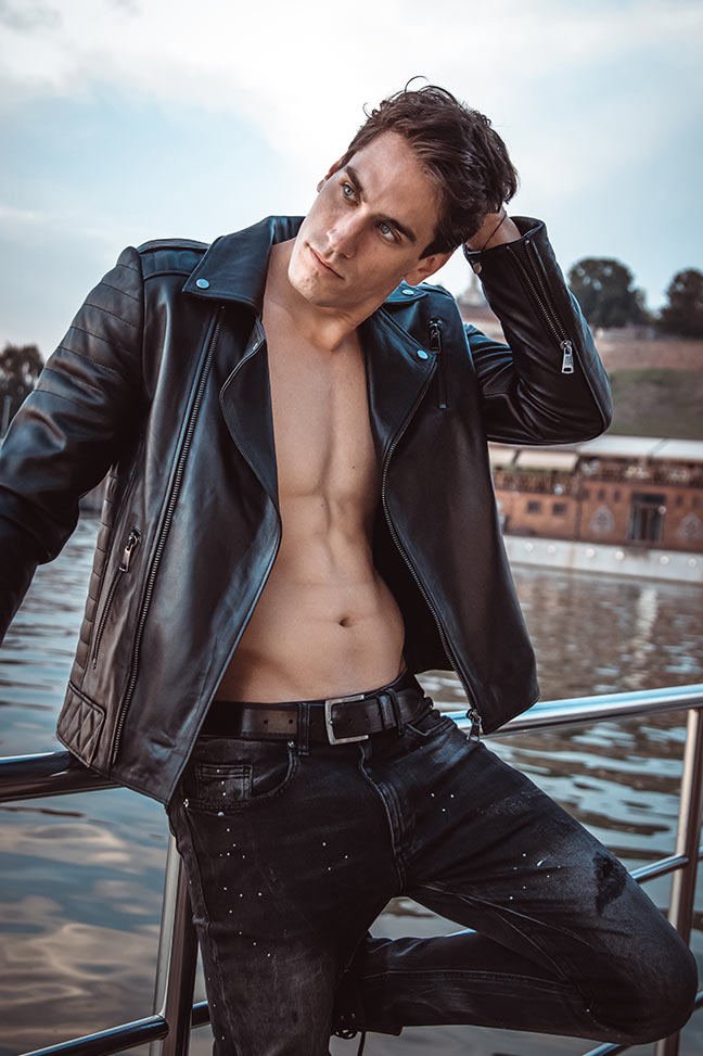 Muška kožna jakna - Mick - Crna