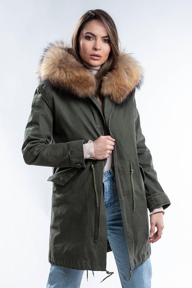 Ženska zimska jakna - Parka - Fratteli Eleonora - Zelena