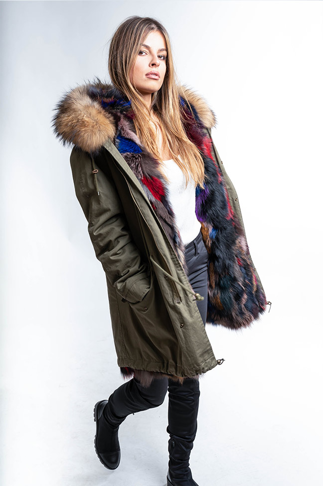 Ženska zimska jakna - Parka - Fratteli Gala Long - Zelena