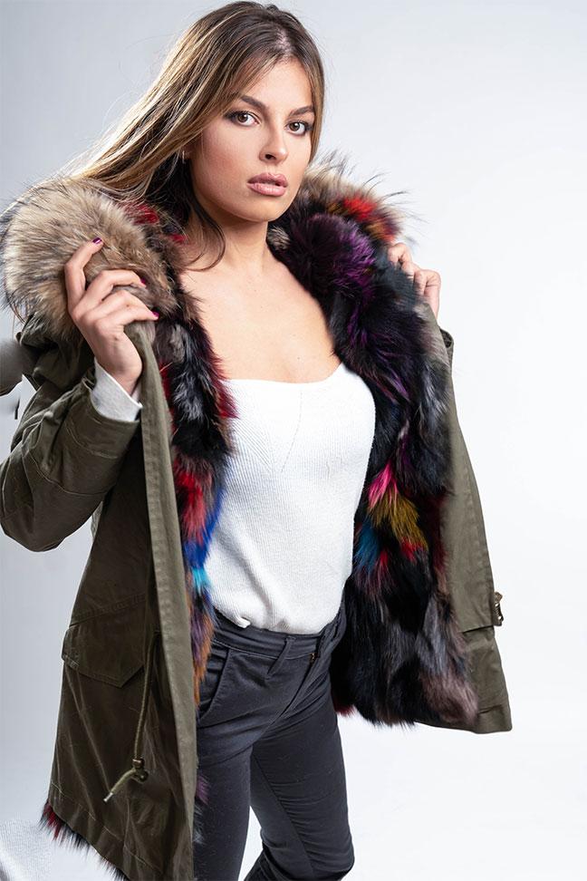 Ženska zimska jakna - Parka - Fratteli Gala - Zelena
