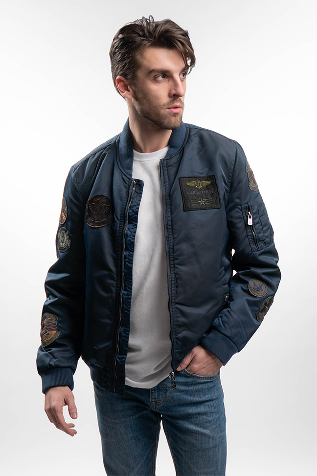 Muška prolećna jakna - Sportska i Casual - Invento Bing - Teget