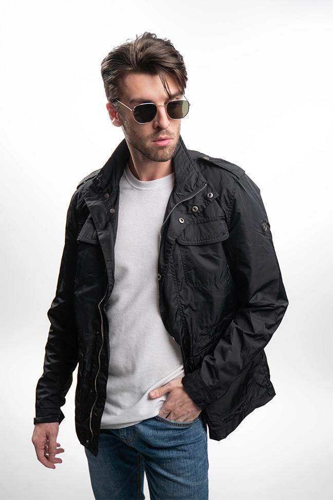 Muška prolećna jakna - Sportska i Casual - Invento Boston - Crna