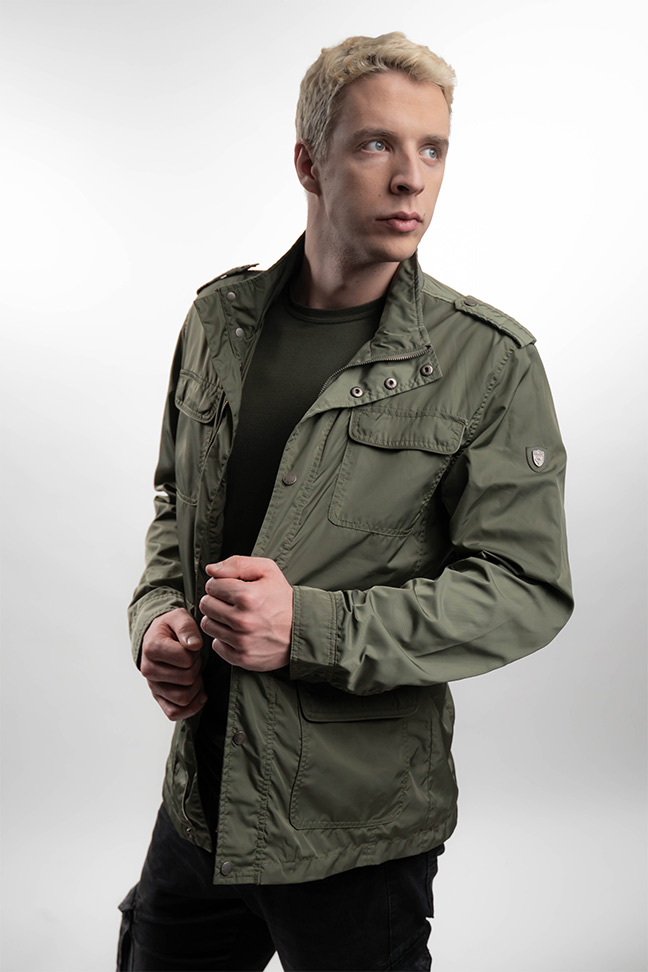 Muška prolećna jakna - Sportska i Casual - Invento Boston - Maslinasta