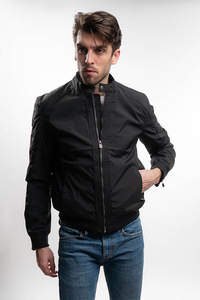 Muška prolećna jakna - Sportska i Casual - Invento Brad - Crna