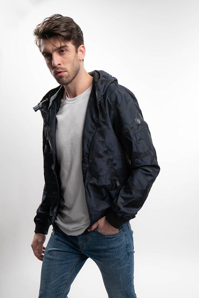 Muška prolećna jakna - Sportska i Casual - Invento Hood- Teget