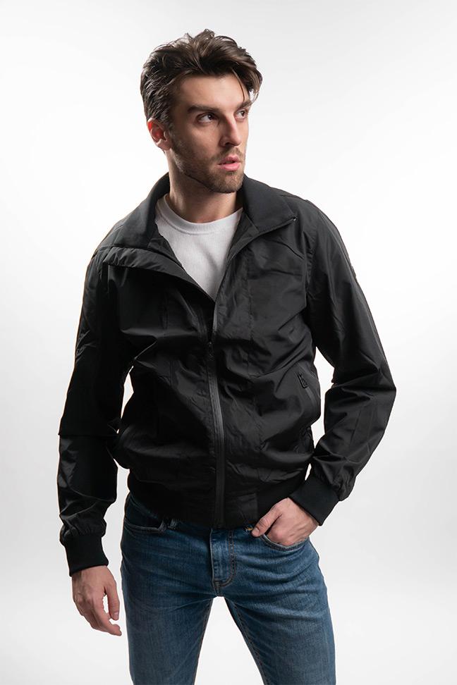 Muška prolećna jakna - Sportska i Casual - Invento Huan - Crna