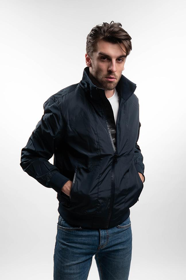 Muška prolećna jakna - Sportska i Casual - Invento Huan - Teget