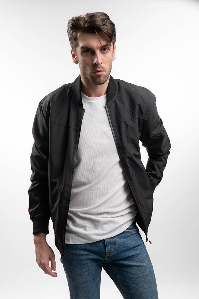 Muška prolećna jakna - Sportska i Casual - Invento Jimmy - Crna