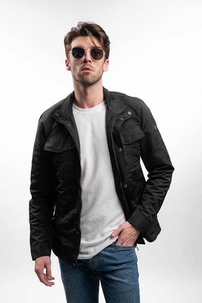Muška prolećna jakna - Sportska i Casual - Invento Perry - Crna