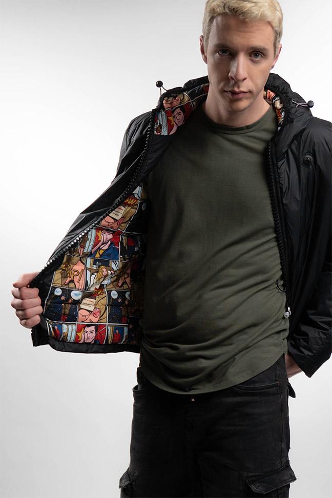Muška prolećna jakna - Sportska i Casual - Staff Hendrix - Crna