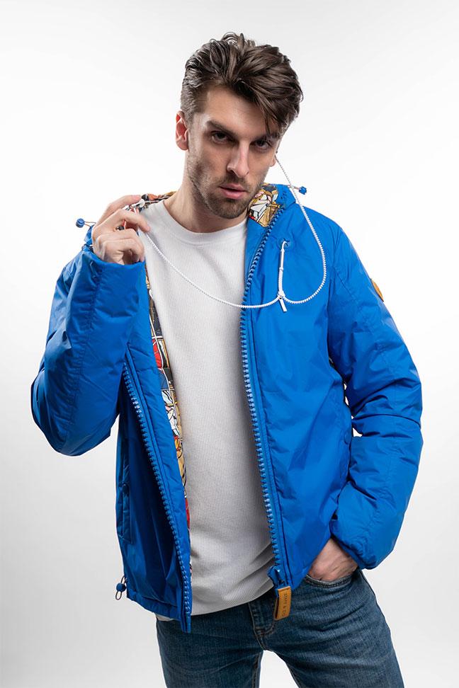 Muška prolećna jakna - Sportska i Casual - Staff Hendrix - Plava