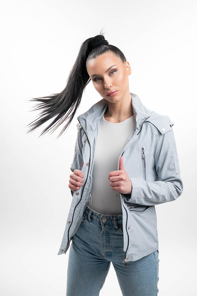 Ženska prolećna jakna - Sportska i Casual - Invento Glory - Plava