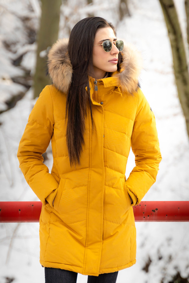 Ženska zimska jakna – Sportska i Casual – Invento Izzy – Žuta