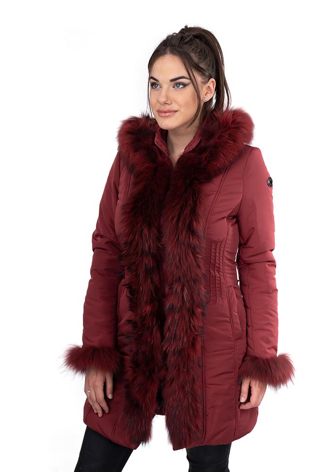 Ženska zimska jakna - Sportska i Casual - Invento Laura - Bordo