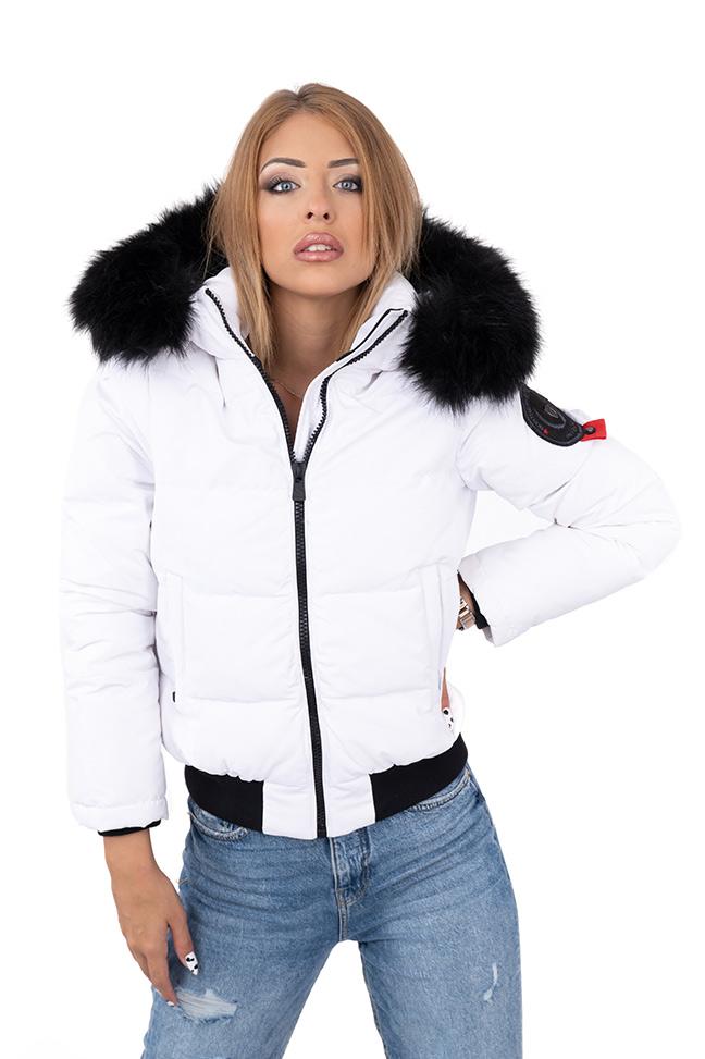 Ženska zimska jakna - Sportska i Casual - Invento Sofia - Bela