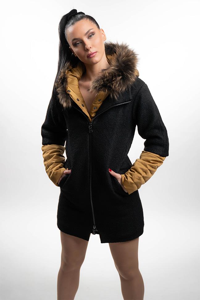 Ženski kaput - Fratelli Elly - Crna