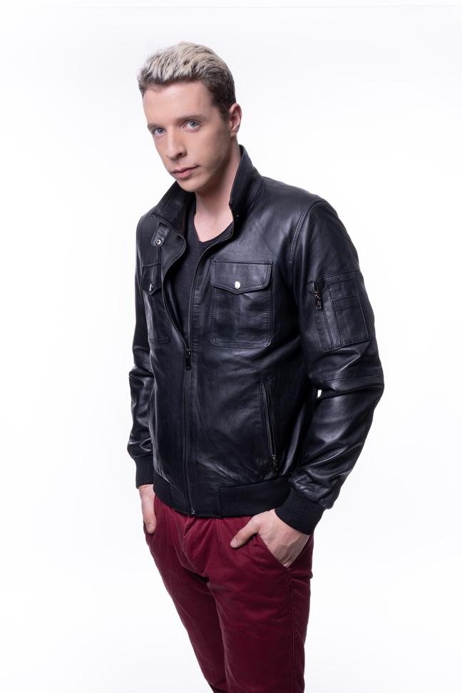 Muška kožna jakna - Ben - Crna