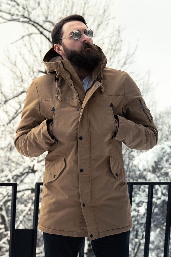 Muška zimska jakna - Sportska i Casual - Invento Han123 - Krem