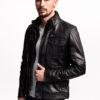 Muška kožna jakna - Bill - Crna