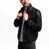 Muška kožna jakna - Fratteli F-2 - Crna