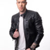 Muška kožna jakna - Invento Nik - Teget
