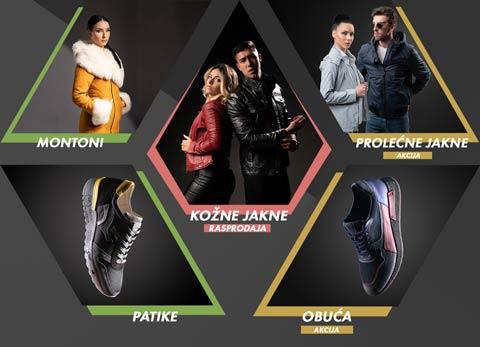 La Force montoni, kožne jakne, prolećne jakne, patike i obuća. Ponuda La Force asortimana sa prikazom koji su artikli na akciji