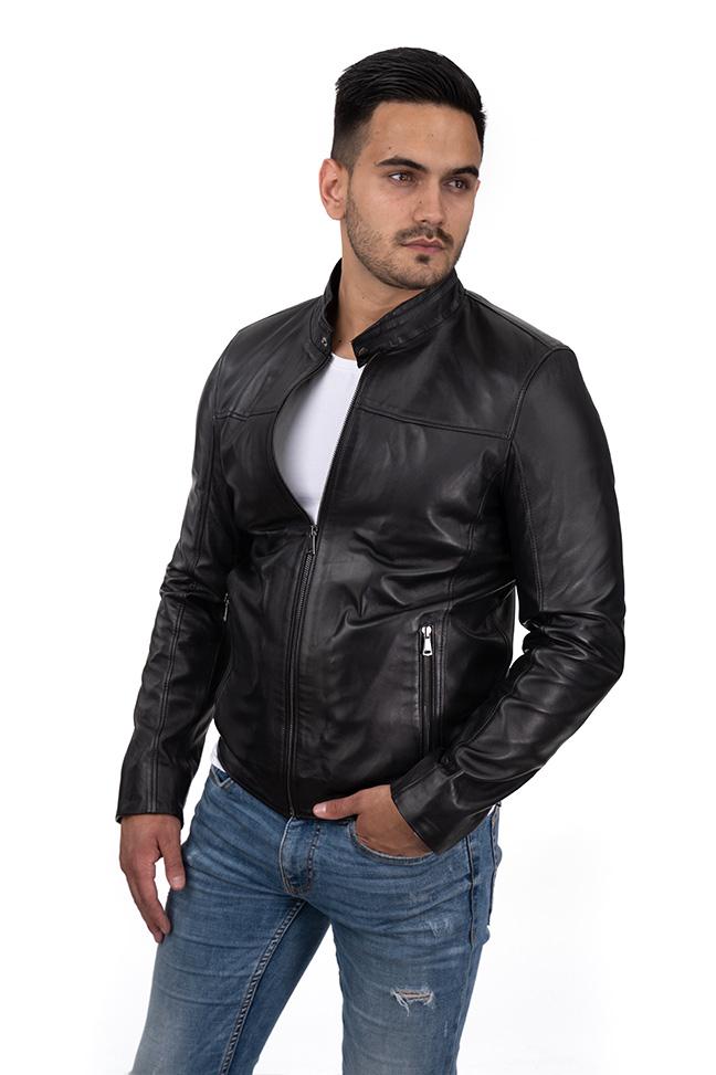Muška kožna jakna - William - Crna