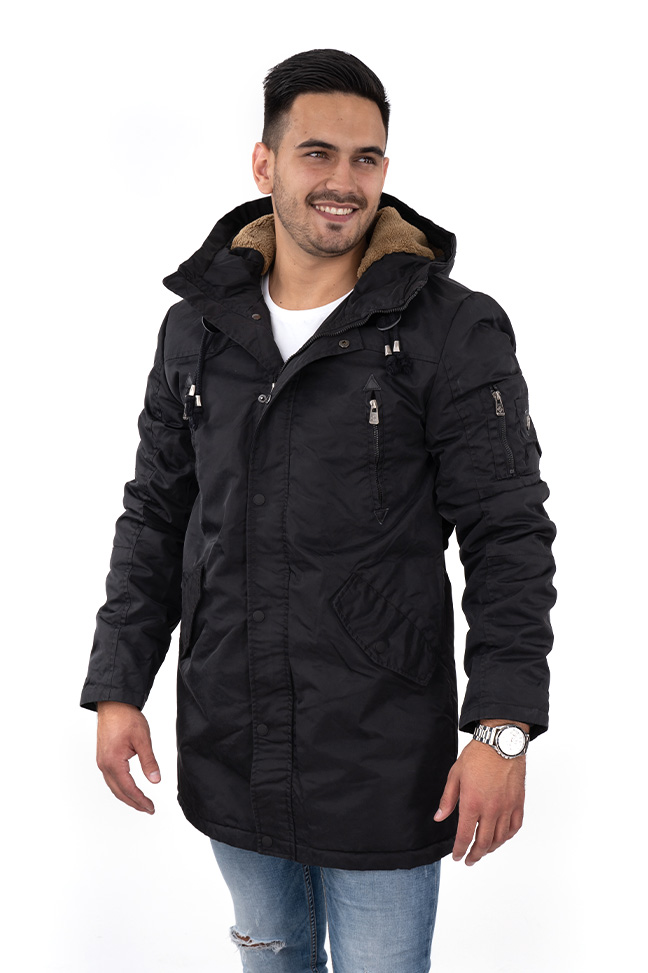 Muška zimska jakna - Sportska i Casual - Invento Han123 - Crna