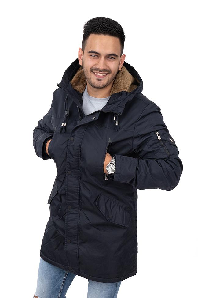 Muška zimska jakna - Sportska i Casual - Invento Han123 - Teget