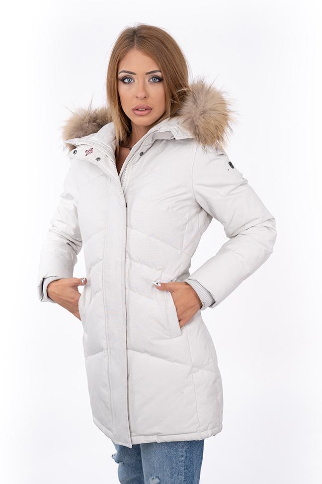 Ženska zimska jakna - Sportska i Casual - Invento Izzy - Bela
