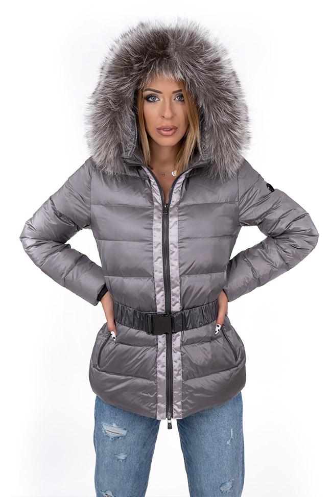 Ženska zimska jakna - Sportska i Casual - Invento Jessy - Siva