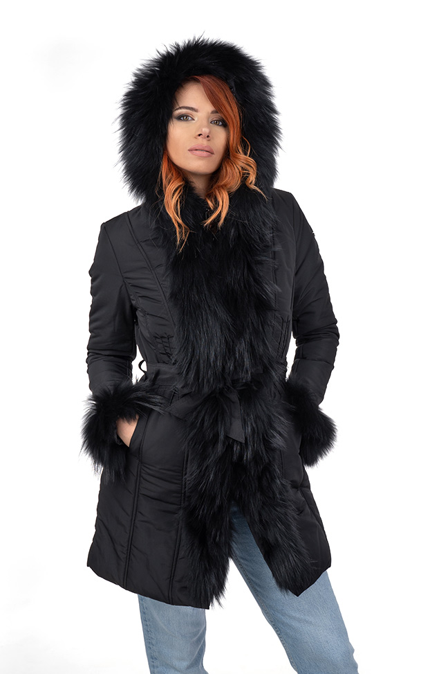 Ženska zimska jakna - Sportska i Casual - Invento Laura - Crna