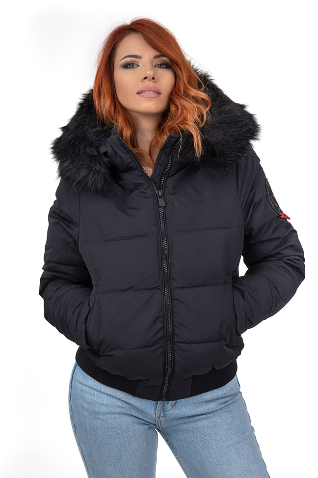 Ženska zimska jakna - Sportska i Casual - Invento Sofia - Crna