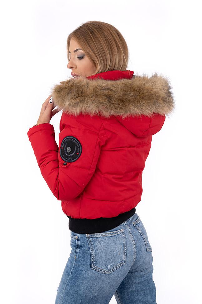 Ženska zimska jakna - Sportska i Casual - Invento Sofia - Crvena